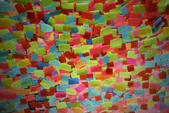 Post it. A billboard with thousand of post it Stock Photography