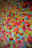 Post it. A billboard with thousand of post it Royalty Free Stock Image