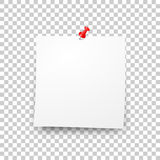 Post blank sticky paper sheet vector Royalty Free Stock Photo