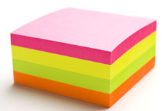 Post it block royalty free stock image