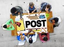 Post Blog Social Media Share Online Communication Concept Stock Photo