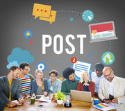 Post Blog Social Media Share Online Communication Concept Stock Photography
