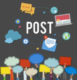 Post Blog Social Media Share Online Communication Concept Royalty Free Stock Images