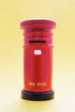 Post Box. On Yellow Background Royalty Free Stock Images