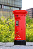 Post box. Traditional red Bristish Royal official post box in hong kong. You see that on a lot of OFFICIAL GOVERNMENT mail and correspondence.. ER stands for (E) stock images