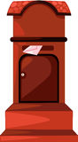 Post box. Illustration of isolated post box on white background Royalty Free Stock Photos