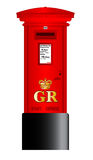 Post Box. A british Royal Mail post box isolated over a white background Stock Photo