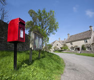 Post box in cotswold village Royalty Free Stock Images