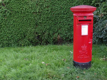 Post box in England Royalty Free Stock Photos