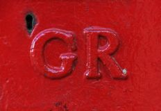 Post Box in Exeter with GR for George 6th stock photo