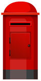A post box. Illustration of a post box on a white background Royalty Free Stock Photography