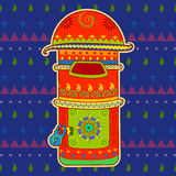 Post box in Indian art style Stock Photo