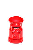 Post box isolated on a white Royalty Free Stock Photo