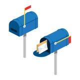 Post box isometric vector illustration Stock Photo