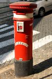Post box in Lisbon, Portugal Stock Image
