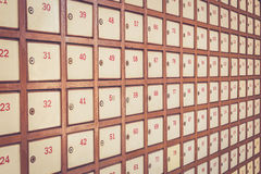 Post box with number Royalty Free Stock Images