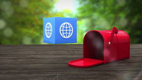 Post box opening to show at sphere icon stock footage