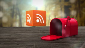 Post box opening to show at wifi icon stock video