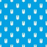 Post box pattern seamless blue Stock Images