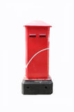Post box. Red post box on white background. classic style post box Stock Photo
