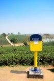 Post box at tea plantation in Chiang Rai, Thailand. Stock Image