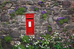 Post box in a wall on Exmoor Stock Photo