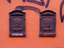 Post boxes in Bologna Stock Image