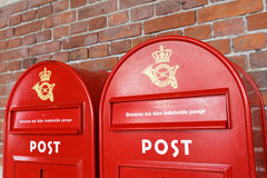 Post boxes Stock Images