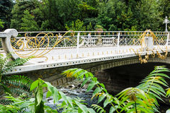 Post Bridge (built in 1909) in Merano, South Tyrol, Italy Royalty Free Stock Photos