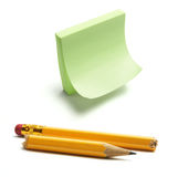 Post It and Broken Pencil Stock Photos