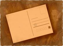 Post card background. Old grunge aged post card background Royalty Free Stock Images