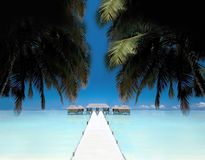 Post card from Bora Bora Royalty Free Stock Photo