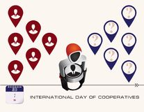 Post card Day of Cooperatives Royalty Free Stock Photography