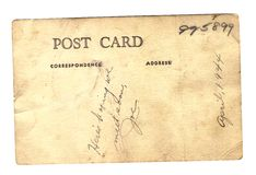 Post Card From Joe WWII Royalty Free Stock Images