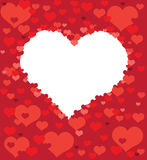 Post card from hearts Royalty Free Stock Images