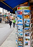 Post card shop at Chamonix's walking street Royalty Free Stock Photo
