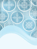 Post card with snowflakes Royalty Free Stock Image