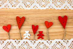 Post card for the Valentine. Stock Image
