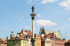 Post card with Warsaw in Poland Royalty Free Stock Photos