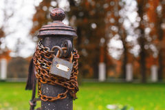 Post chain lock Royalty Free Stock Photos