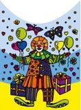 Post clown Royalty-vrije Stock Afbeelding