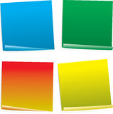 Post it col variation. Four color post it notes in different styles and angles Royalty Free Stock Photos