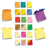 Post it collection Stock Image