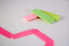 Post-it colorido Foto de Stock