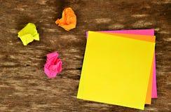 Post-it colorido Fotografía de archivo libre de regalías