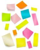 Post-it colorido con el camino de recortes Fotografía de archivo libre de regalías