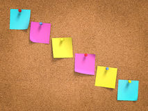 Post-it coloridos a bordo Fotografía de archivo