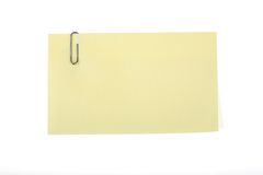 Post-it con la clip Fotografia Stock