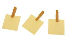 Post-it con las clavijas i Imagen de archivo libre de regalías