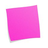 Post-it cor-de-rosa Fotos de Stock Royalty Free
